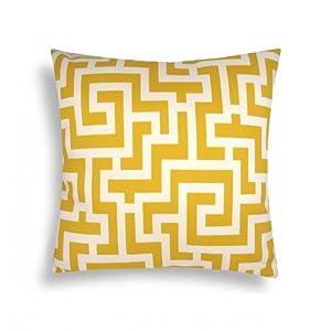 Domusworks Maze Pillow, Yellow