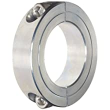 Climax Metal Two-Piece Clamping Shaft Collar, Zinc-Plated Steel