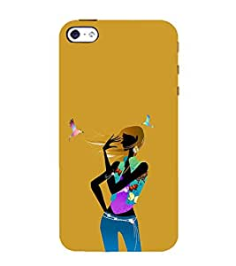 Ifasho Girl With Bird Back Case Cover For Apple Iphone 4