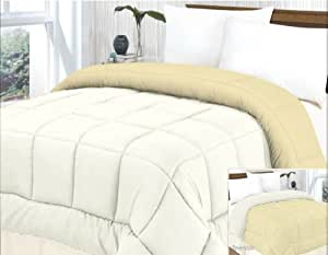 Better than Down All-Season Comforter Queen White / Beige