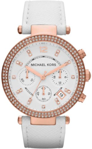 Michael Kors Parker Chronograph Leather Ladies