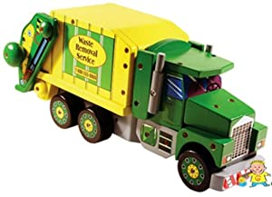 Melissa & Doug Deluxe Wooden Mighty Builder Garbage Truck