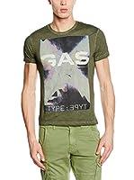 Gas Jeans Camiseta Manga Corta (Verde)