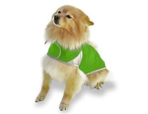 Scooter's Friends Rain Slicker Dog Coat, Size 8, Lime Sherbet