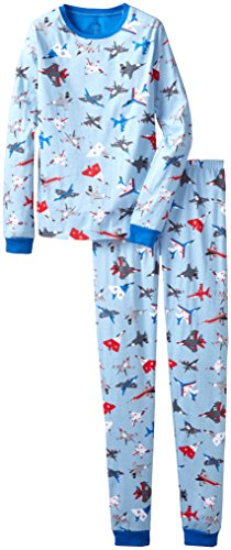 Hatley Big Boys' Pajama Set Fighter Jets, Blue, 8 front-540991