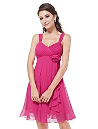 Ever-Pretty Womens Ruched Bust Flowe…