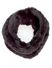 M&S Collection Faux Fur Twisted Snood Scarf