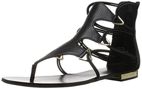 Aldo Women's Barbiana Gladiator Sandal, Black Synthetic, 7.5 B US