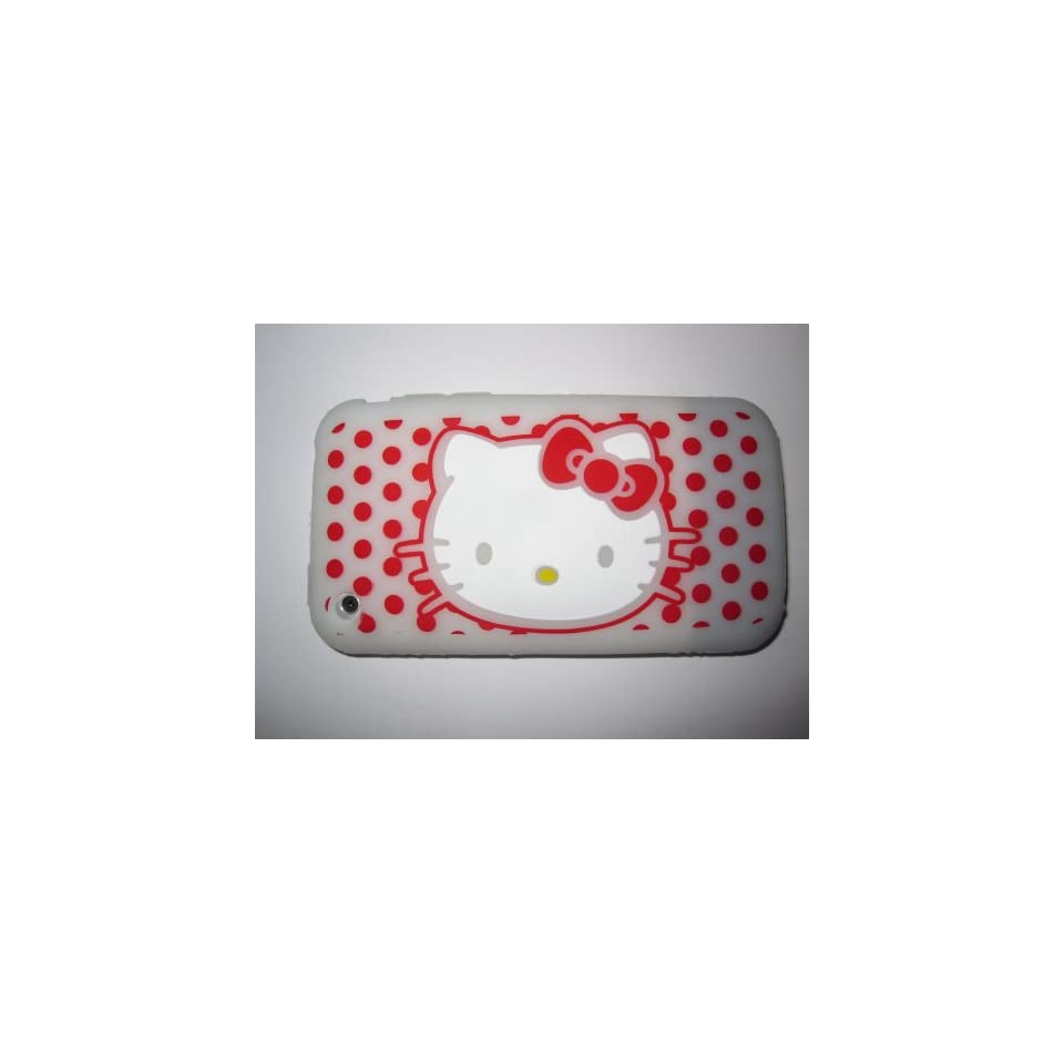 I Phone 3G 3GS light weight Hello Kitty Silicone Case / Skin White