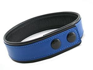 M2m Armband, Leather, Medium, Black/blue