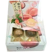 【福島県産白桃使用】福島の白桃ゼリー6個入