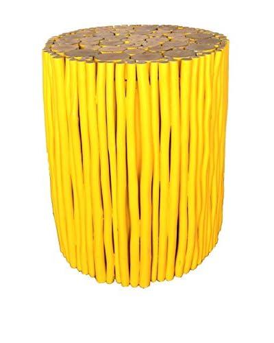Asian Art Imports Yellow Stick Stool