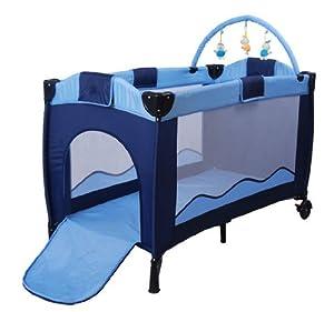 baby reisebett inkl wickeltisch babybett kinderbett babyreisebett blau neu a01 baby. Black Bedroom Furniture Sets. Home Design Ideas