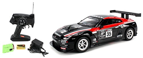 Licensed Nissan GTR NISMO GT3 GT Academy Electric Remote Control RC Car 1:16 Scale Ready to Run RTR w/ Bright LED Front & Rear Lights (Colors May Vary)