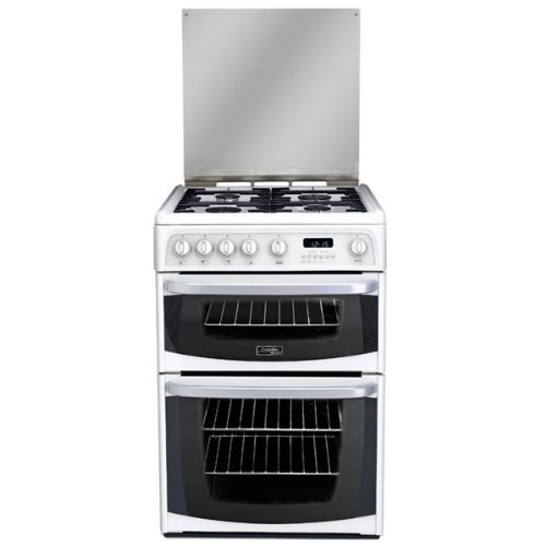 Hotpoint CH60GCIW Double Gas Cooker in White 60cm wide