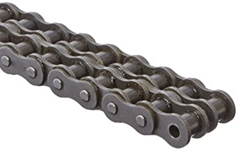 "Morse 50-2R 10FT Standard Roller Chain, ANSI 50-2, Riveted, 2 Strands, Steel, 5/8"" Pitch, 0.4"" Roller Diamter, 3/8"" Roller Width, 95000lbs Average Tensile Strength, 10ft Length"