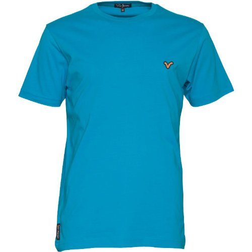 Voi Jeans Herren Hartford T-Shirt Ocean Blue - L To Fit Chest 38-40 Euro Large