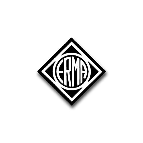 Aufkleber / Sticker -ERMA Waffenfabrik Berthold Geipel GmbH Erfurter Maschinen- und Werkzeugfabrik Wappen Abzeichen Emblem passend für VW Golf Polo GTI BMW 3er Mercedes Audi Opel Ford (7x7cm)#A1541