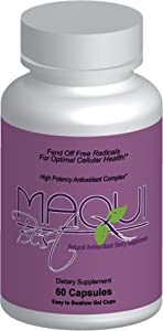 Maqui Best Super Berry Antioxidant - Certified 11,500 ORAC/serving! (1400 mg/serving, 60 capsules/bottle)