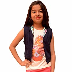 Titrit Navy Blue top with jacket stiched