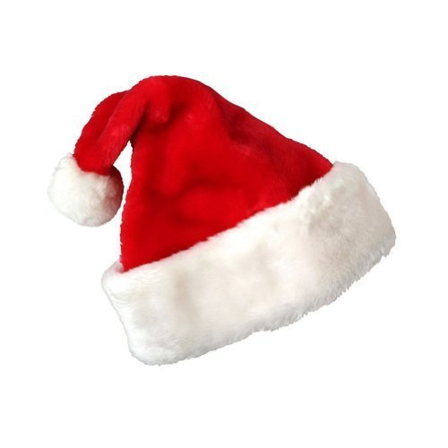 Deluxe Santa Hat Velveteen with White Faux Fur Trim Pkg/1 by PMU [Toys & Games]