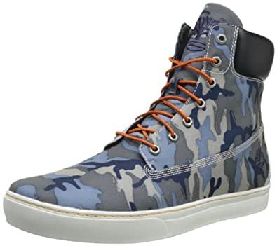 Timberland Men's Newmarket 61 Cupsole Canvas Boot,Blue Camo,9 M US