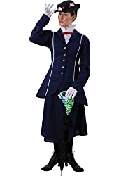 Adult Womens Mary Poppins Fancy Dress Costume