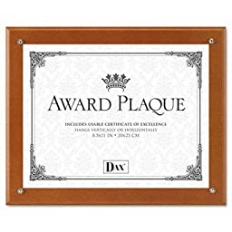 Dax - 2 Pack - Plaque-In-An-Instant Kit W/Certificate/Mats Wood/Acrylic 10-1/2 X 13 Walnut \