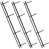 Four-Pin VeloBind&reg Reclosable Binding Strips, Black, 25/Pack (GBC9741630)