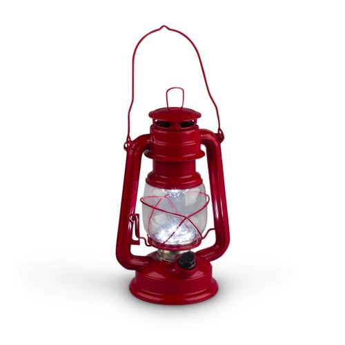 Gerson-95-Inch-Red-Metal-15-LED-Hurricane-Lantern-with-Dimmer-Switch