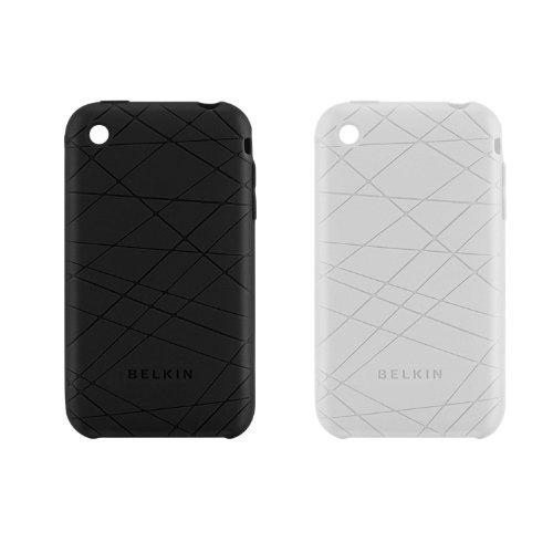 Housses silicone Grip Vector Duo F8Z472 caviar et transparent  pour  iPhone 3G S