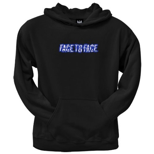 Old Glory Mens Face To Face - Embroidered Logo Pullover Hoodie - 2X-Large Black