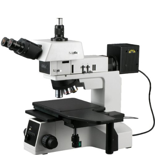 Amscope Me600T Episcopic Trinocular Metallurgical Microscope, 50X-500X Magnification, Pl10X Extreme Widefield Eyepieces, Infinity Plan Long Working Distance Objectives, Kohler Condenser, Brightfield/Darkfield/Polarizing Halogen Illumination With Rheostat,