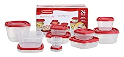 Rubbermaid 24-Piece Food Storage Container Set with Lid, Red