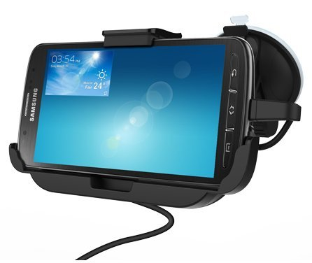 Samsung Galaxy S4 Active Car Mount Dock With Built In Charger - Windshield & Dashboard