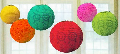 Fiesta Paper Lantern Value Pack Party Accessory (6-Pack)