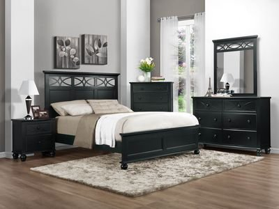 Sanibel Diamond Overlay Full Bed By Homelegance In Black front-1049065