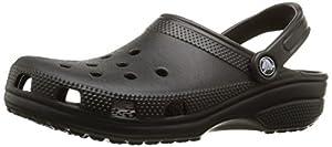 Crocs Classic Unisex - Erwachsene Clogs, Schwarz (Black 001), EU 42/43 (US M9/W11)