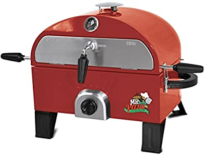 Mr. Pizza GOT1509M Pizza Oven and Grill, Red