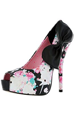 Iron Fist Women's Shoes - Buns & Roses Peep Toe Platform High Heels