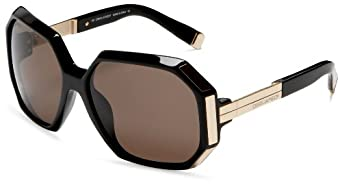 DSQUARED2  DQ39 Oversized Sunglasses,Black Frame/Brown Lens,one size