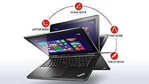 Lenovo ThinkPad Yoga 12.5-Inch Convertible 2 in 1 Touchscreen Ultrabook (20CD0032US) Black