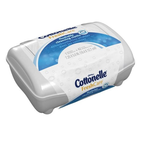 Cottonelle Fresh Flushable Moist Wipes Tub 42 Box Color May