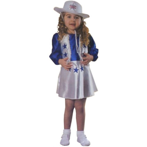 Halloween Costume Dallas Cheerleader Toddler Girl 2T 4T front-1070427