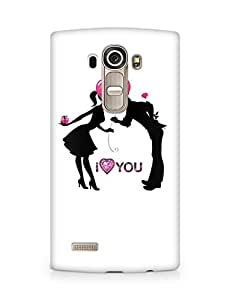 Amez designer printed 3d premium high quality back case cover for LG G4 (I Love You)