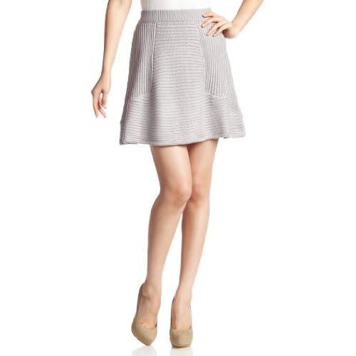 (ムルーア)MURUA リリブ切替フレアニットスカート 011330505601 5 グレー 99