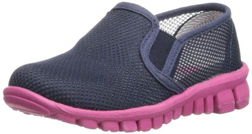 NoSoX Pax Slip-On (Little Kid/Big Kid),Navy/Pink,3 M US Little Kid