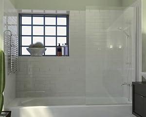 Amazon Com Ark Showers Semi Frameless Bathtub Shower