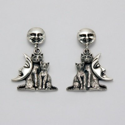 Celestial Cats Earrings