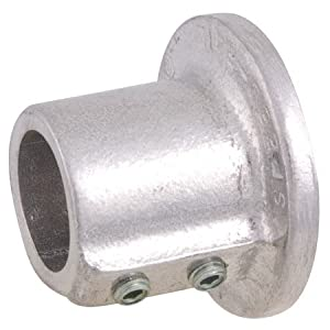 "Round Wall Flange, For 1"" Pipe, Alum./Mag. Alloy, 3/8-16 x 7/16"" Set"